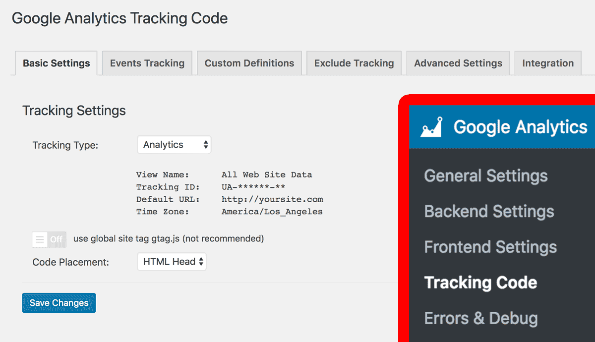 At Google Analytics -> Tracking Code -> Select Your Tracking Settings